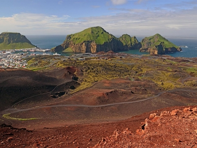 Volcano in Vestmannaeyjar